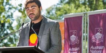 Young Indigenous Alumni of the Year, Robbie Williams. Image: Stuart Hay/ANU