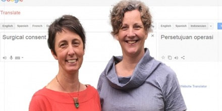 Dr Susy Macqueen and Associate Professor Christine Phillips (left to right).