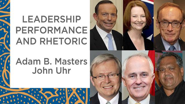 Image shows composite of book cover and Tony Abbott, Julia Gillard, Bob Carr, Kevin Rudd, Malcolm Turnbull and Noel Pearson