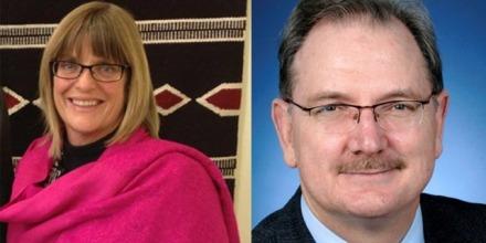 Consul-General Karen Lanyon and Ambassador John Richardson. Images: Twitter and DFAT