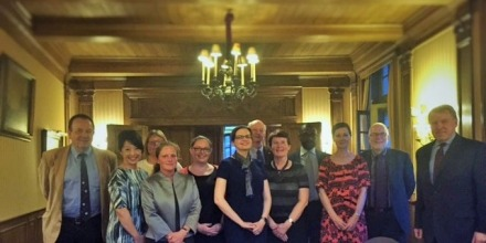 Alumni and staff celebrated ANU-European ties at a recent dinner in Brussels, Belgium