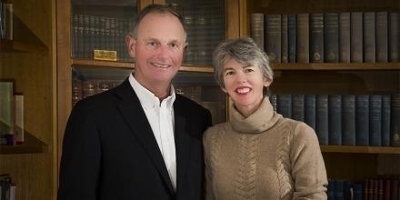 Graeme & Louise Tuckwell. Image by Stuart Hall, ANU