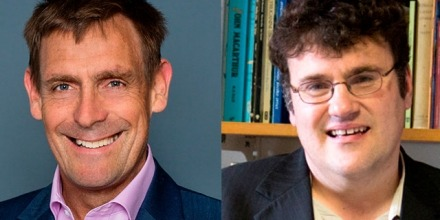 Professor Nicholas Brown (left) and Professor Frank Bongiorno will be inducted into the Academy in October.