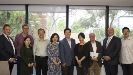 Officials from CASS and China's Xi'an Jiaotong University met at ANU to discuss potential research collaboration.