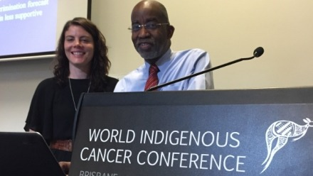 Dr Naomi Priest, winner of a NHMRC fellowship, and Prof David R Williams. Image: Supplied