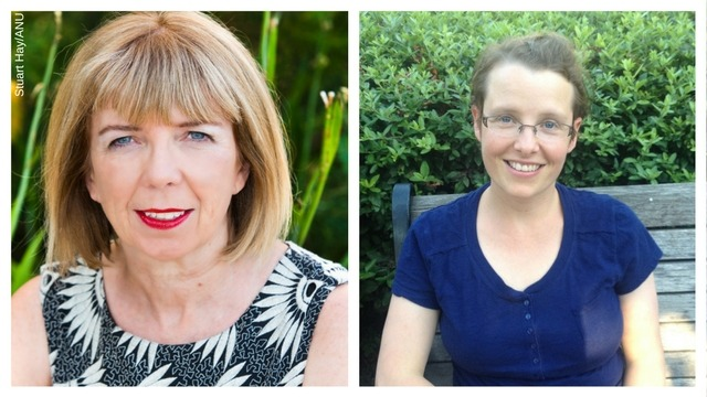 ARC grant winners Professor Ann McGrath (left) and Associate Professor Katherine Bode. Images: Stuart Hay/supplied