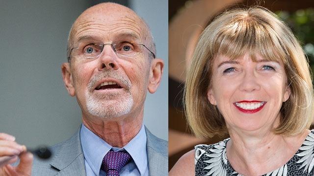 Professor Philip Pettit AC and Professor Ann McGrath AM. Images Stuart Hay/ANU Media