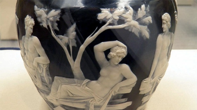 Detail of Roman cameo glass on the Portland Vase at the British Museum. Image: Carole Raddato/Flickr