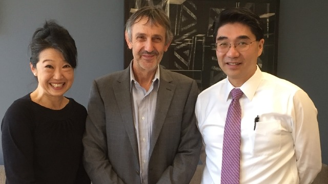 From left, Professor Jacqueline Lo and Professor Paul Pickering of CASS, and PKU's Professor Li Chenjian, agreed to explore collaborations and exchanges.
