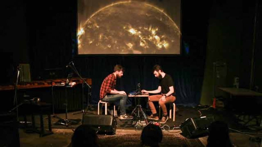 ANU Experimental Music Studio members Alexander Hunter and Charles Martin will perform their three-hour show in Kendall Lane Theatre. Photo: Alexander Hunter